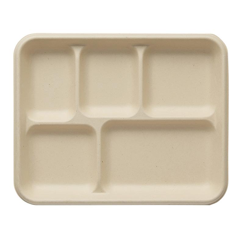 テイクアウト(持ち帰り)もおしゃれな紙容器にいれて!業務用としても便利です♪ 紙皿 バンブーペーパーウエア HEIKO シモジマ トレイ BT5-26 20枚