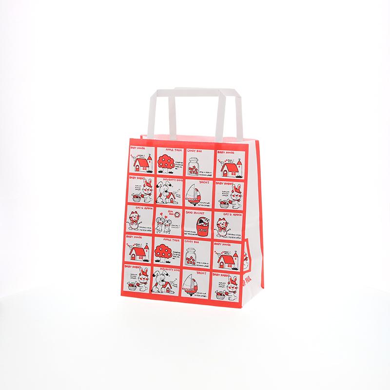 なつかしさを感じるレトロなデザイン 紙袋 手提げ HEIKO シモジマ 50枚 日本限定 18-1 超目玉 ストップペイル H25チャームバッグ