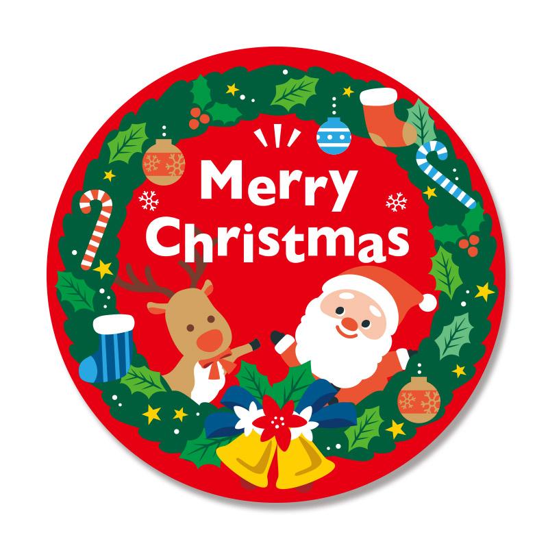 ネコポス対応商品 クリスマス メーカー公式ショップ 爆買い送料無料 ギフトシール HEIKO シモジマ 22片 ハッピーリース