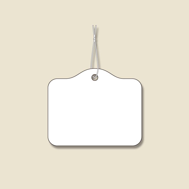 休み 手芸クラフトのラッピング倶楽部 HEIKO 提札 1000枚 出荷 綿糸付き No.17