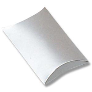 手芸クラフトのラッピング倶楽部 箱 お求めやすく価格改定 ギフトボックス ピローボックス HEIKO 銀 シモジマ メーカー公式 AX-6 10枚入