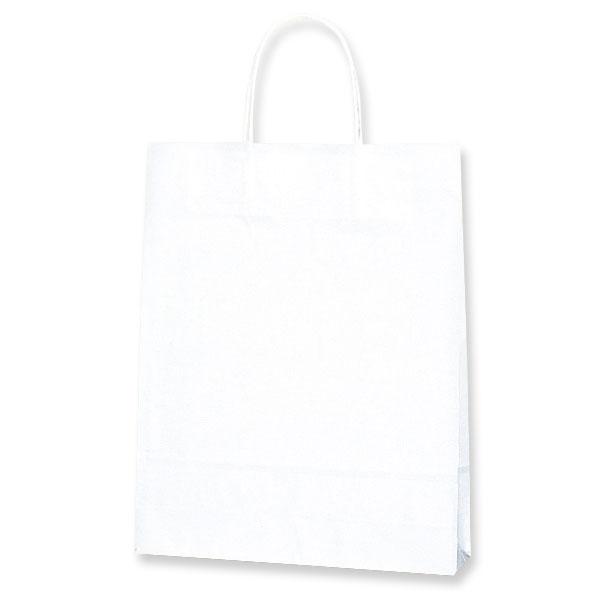テイクアウト・雑貨・お菓子にぴったりの持ち手付き袋W27xD8xH34cm 紙袋 A4サイズ対応 手提げ HEIKO シモジマ 25チャームバッグ(25CB) MS1 白無地(50枚入) ラッピング