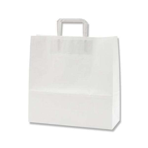 テイクアウト 雑貨 お菓子にぴったりの持ち手付き袋W32xD11.5xH32cm 紙袋 手提げ HEIKO シモジマ 特売 平手 ラッピング 白無地 H25チャームバッグ 50枚入 3才 ランキングTOP5