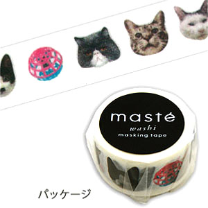 マスキングテープ マステ Mark's マークス maste MULTI リアルアニマル ネコ MST-MKT12-A