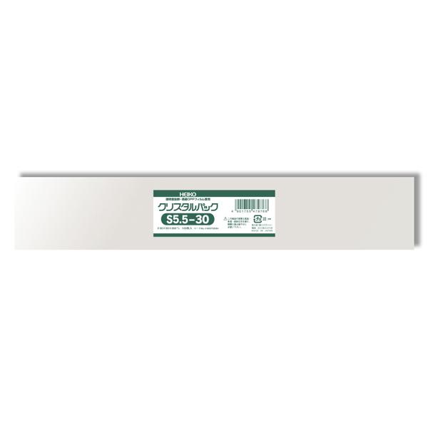 透明度の高い透明OPP袋です スーパーSALE10%OFF OPP袋 クリスタルパック HEIKO シモジマ SALE開催中 S5.5-30 梱包袋 安心の定価販売 テープなし 透明袋 100枚 ラッピング ハンドメイド