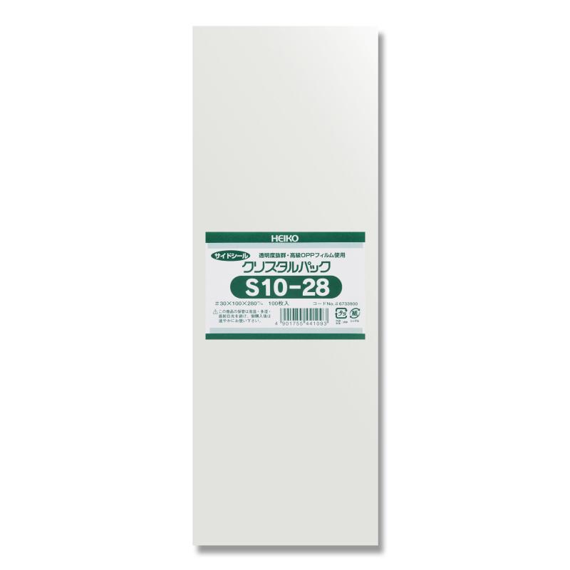 OPP袋 透明袋 テープなし HEIKO ラッピング クリアパック スーパーSALE10%OFF 梱包袋 入荷予定 クリスタルパック 大注目 ハンドメイド S10-28 100枚 シモジマ