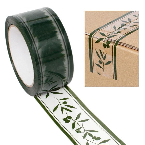 オリジナルの可愛い柄OPPテープ 強力な粘着力でしっかり梱包できます 柄入りOPPテープ HEIKO パッキングテープ シモジマ オリーブガーデン 50mmx50m ショッピング 営業