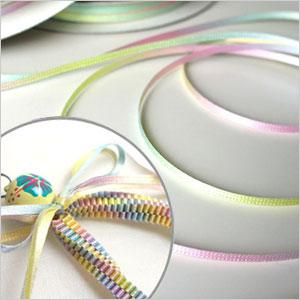 蝴蝶結包HEIKO/SHIMOJIMA彩虹段子蝴蝶結彩色粉筆寬度3mmx30m