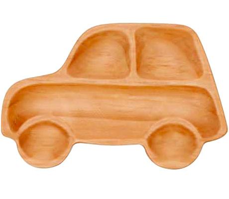 ラッピングキッズにぴったり!かわいい子供用の木製食器ですPETITS ET MAMAN WOOD TRAY SPICE スパイスプチママントレイ L(レギュラーサイズ) カー AVLF1070(ウッドトレイ・木製ランチプレート)