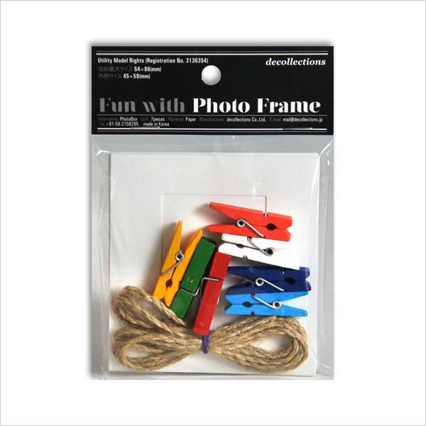 매진되어 SALE PH-SW페이퍼 포토 프레임 세트 화이트 S사이즈(89×94 mm・카드 사이즈 대응)
