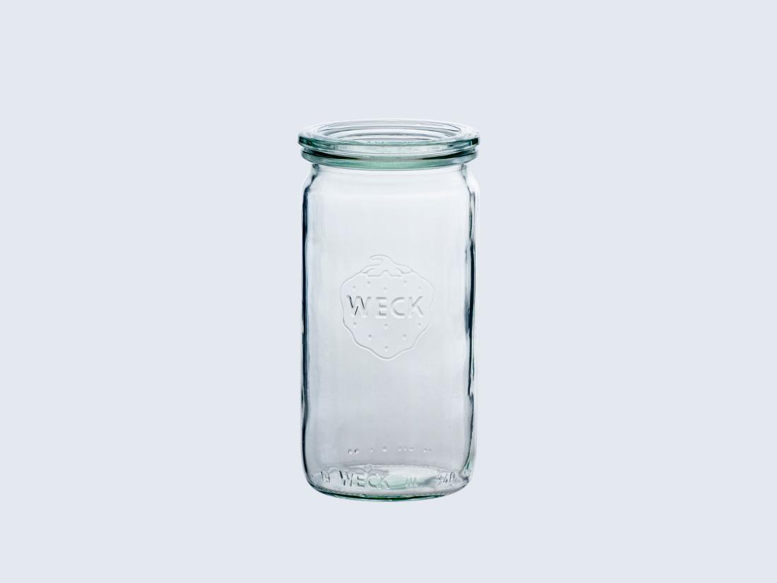 WECKは100年愛されるドイツ生まれの保存食器 weck キャニスター Straight 340 ウェック ストレート 耐熱 ガラス 保存 ストッカー 贈呈 パスタ ガラスキャニスター 容器 瓶詰め 保存容器 調味料容器 安売り