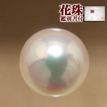 「あこや本真珠[オーロラ花珠鑑別書付]パールルース(シングル)8.5-9.0mm AAA」[n4]