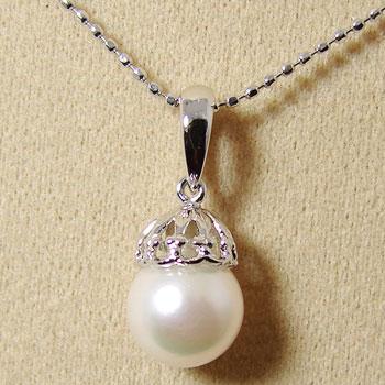 「あこや本真珠 パールペンダントトップ(ヘッド) パールホワイト系 7.0-7.5mm CCB K14WG」[n5]