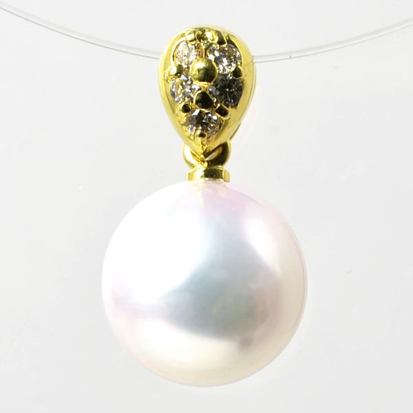 「あこや真珠 パールペンダントトップ(ヘッド) ホワイト系 8.5-9.0mm BBB K18」[n2]