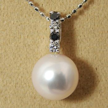 「あこや本真珠 パールペンダントトップ(ヘッド) パールホワイト系 8.0-8.5mm BBB」K14WG[n5]