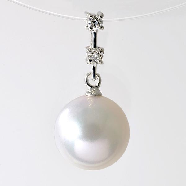 「あこや真珠 パールペンダントトップ(ヘッド) ホワイト系 8.0-8.5mm BBB K18WG」 ホワイトゴールド(アコヤ本真珠)[n5]
