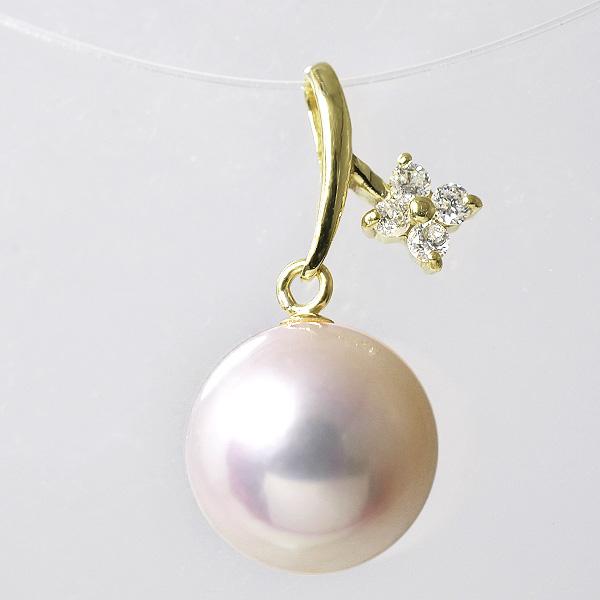 「あこや真珠 パールペンダントトップ(ヘッド) ホワイト系 8.5-9.0mm BBB K18」 ゴールド(アコヤ本真珠)[n6]