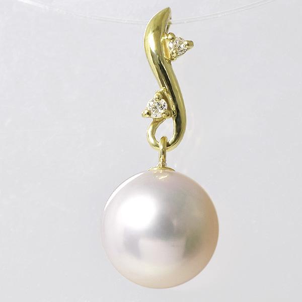 「あこや真珠 パールペンダントトップ(ヘッド) ホワイト系 7.5-8.0mm BBB K18」 ゴールド(アコヤ本真珠)[n6]
