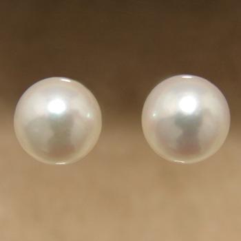 「あこや本真珠 パールペアルース パールホワイト系 8.5-9.0mm CCB~C ラウンド型」[n3]