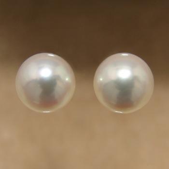 「あこや本真珠 パールペアルース パールホワイト系 8.0-8.5mm BBB ラウンド型」[n3]