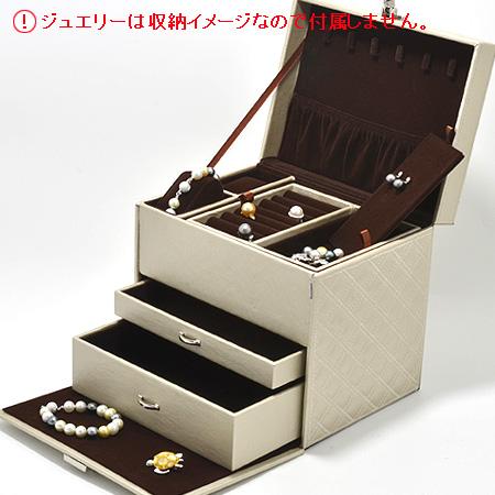 [ネコポス発送不可] キルティング宝石箱(大) ジュエリーボックス[n4](ジュエリーケース 収納)