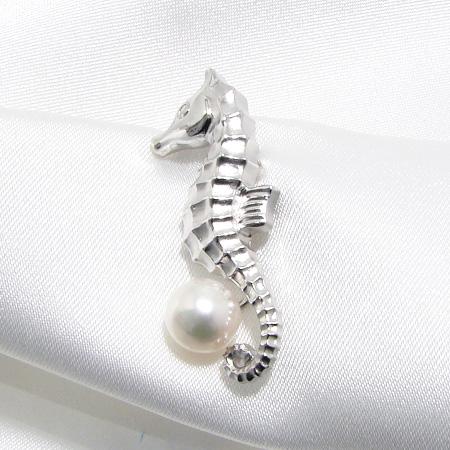 「あこや真珠 パールピンブローチ ホワイト系 7.0-7.5mm BBB silver」[n5](冠婚葬祭 フォーマル 入学式 卒業式 成人式)