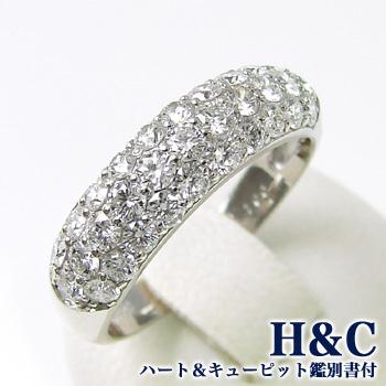 「ダイヤモンド ダイヤモンドリング(指輪) 1.0ct Pt [H&C(鑑別書付き)]」[n5]