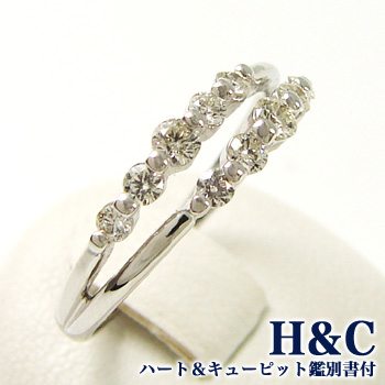 「ダイヤモンド ダイヤモンドリング(指輪) 0.36ct K18WG [H&C(鑑別書付き)]」[ダイヤ][18金][n5]