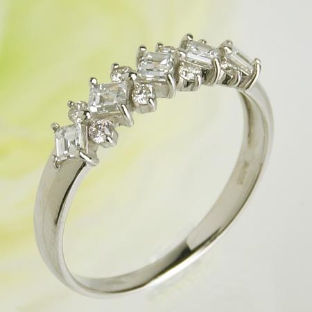 【受注発注品】クラシカルデザイン ダイヤモンドリング(指輪) 0.5ct Pt900 プラチナ[n9]