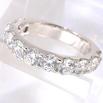 【受注発注品】[H&C鑑別書付]ハーフエタニティ ダイヤモンドリング(指輪)2.0ct SI 無色Hup Pt900 プラチナ [n9] (ハート&キューピット)(記念日 10周年 プレゼント)(結婚指輪)