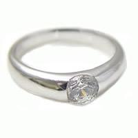 「0.7ct用ダイヤモンドリング枠プラチナ 埋め込みタイプ」[n13]
