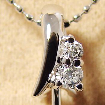 「グラデーションダイヤペンダントトップ金具(K18WG)」(真珠用)[n5]