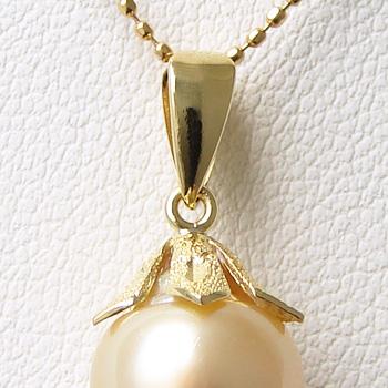 【受注発注品】果実のような冠型 ペンダントトップ金具 K18 ゴールド [n5](真珠 パール セミオーダー 加工用 パーツ)