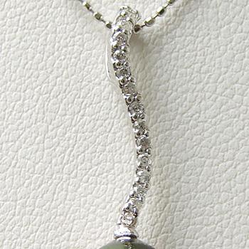 「ダイヤS字ラインペンダントトップ金具(K14WG)」(真珠用)[n5]