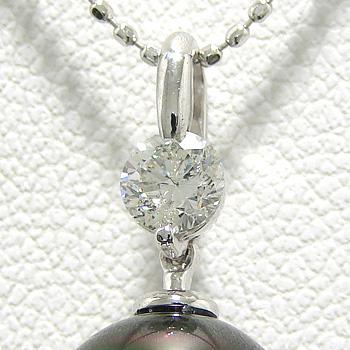 「0.30ctダイヤが輝くペンダントトップ金具(K18WG)」(真珠用)[n5]