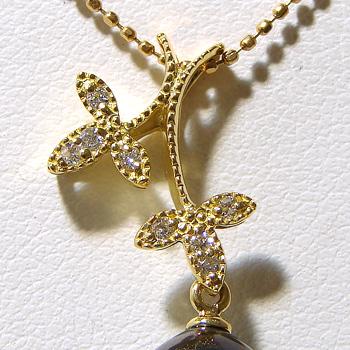 「木の枝デザインペンダントトップ金具(K18)」(真珠用)[n5]