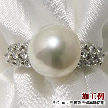「ゴージャスダイヤの華ありリング枠(指輪金具)(Pt900)」(真珠用)[n5]