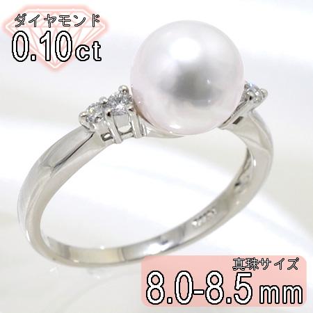 「あこや本真珠 パールリング(指輪) ホワイト系 8.0-8.5mm BBB Pt900」 プラチナ[n5](冠婚葬祭 フォーマル 入学式 卒業式 成人式)