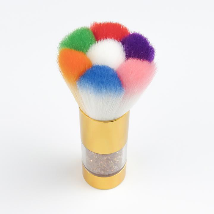 ネイル用ダストブラシ Seasonal Wrap入荷 カラフルなお花形 フラワーブラシ マーケット ネイルダストブラシ