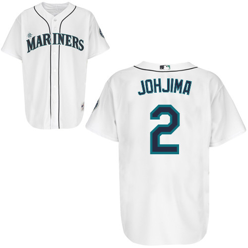 sports shoes e4780 bea60 MLB authentic (player specifications) on field jersey Seattle Mariners Home  #2 Kenji Jojima