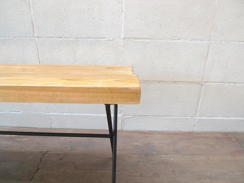 【ショップ什器】インダストリアルデザインディスプレイベンチ B-02 Bench 鉄製家具什器