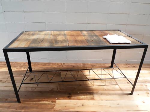 【ショップ什器】職人ハンドメイド!インダストリアル鉄製ディスプレイテーブルDP-03 Table アパレルディスプレイ店舗什器アンティークレトロ家具販売!W STANDARD《ダブルスタンダード》