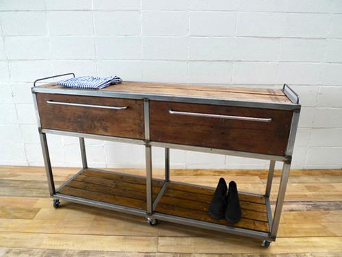 【ショップ什器】職人ハンドメイド!インダストリアル鉄製ディスプレイテーブルDP-04 Table(カラーシルバー)アパレルディスプレイ店舗什器アンティークレトロ家具販売!W STANDARD《ダブルスタンダード》