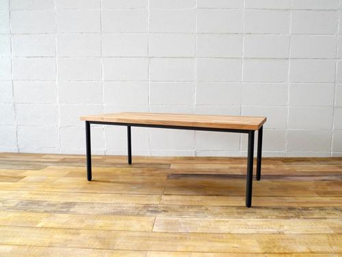 【ショップ什器】インダストリアル鉄製ディスプレイテーブル WT-01BK Table
