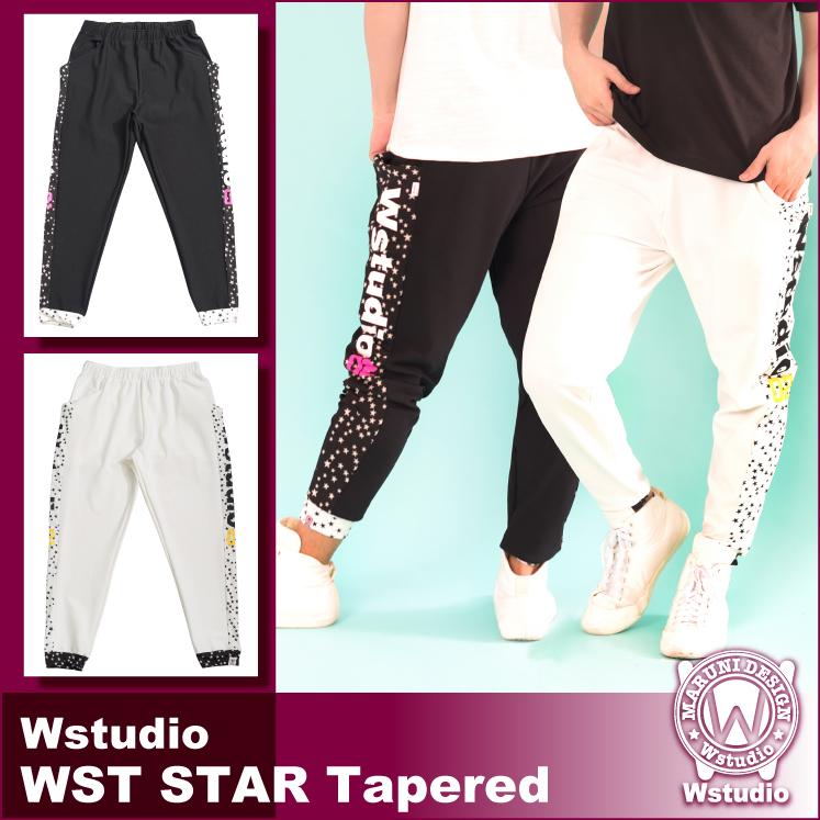 【送料無料】Wstudio ダブルスタジオ【全2色】WST STAR Tapered フィットネスウェア