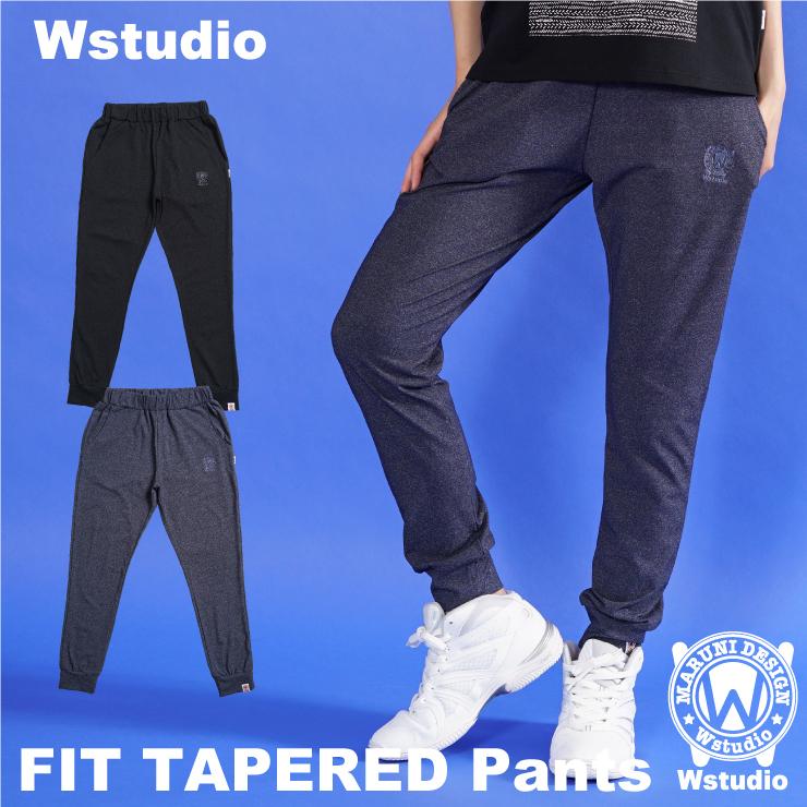 【送料無料】Wstudio ダブルスタジオ【全2色×2サイズ】FIT TAPERED Pants フィットネスウェア