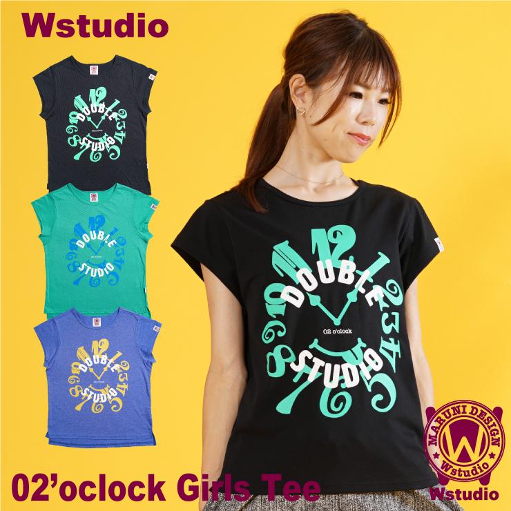 【ネコポス対応】Wstudio ダブルスタジオ【全3色】02'oclock Girls Tee フィットネスウェア