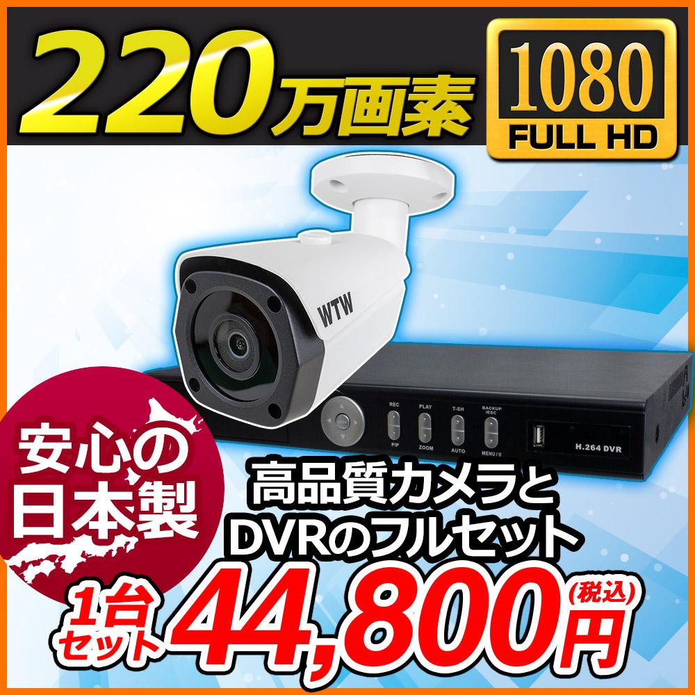 日本製【HD-SDI 220万画素】自社開発・自社製造デジタル放送規格SDIカメラと録画機のセット!1080p対応 8ch DVR 屋外防滴赤外線LED搭載カメラ1台セット 塚本無線が国内サポート・国内修理1年保証![RYA-DH68-1Y-1TB/RYA-HR25B-1Y]