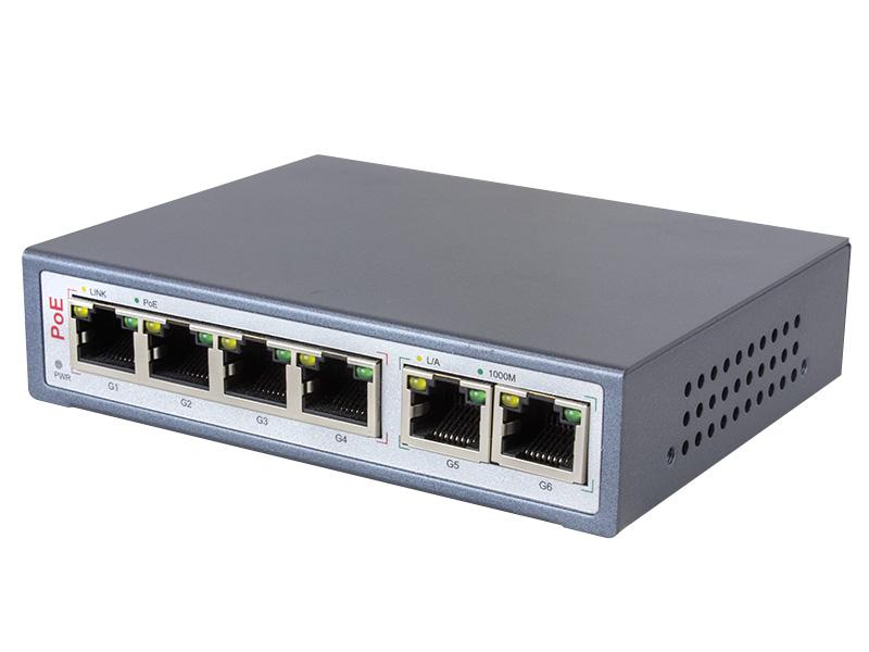 IPネットワークカメラ用 PoE給電スイッチングハブWTW-POE-04-26