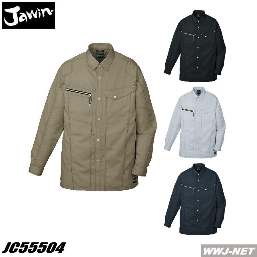 作業服 作業着 Jawin 男が際立つゴールドのアクセント 長袖シャツ  自重堂 JC55504 春夏物:WWJ